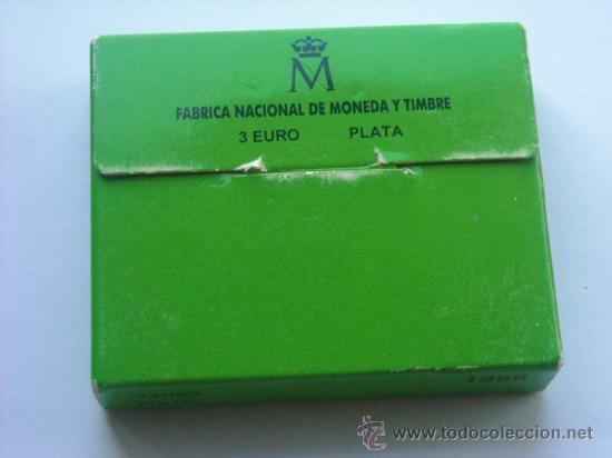 Monedas FNMT: 3 euros plata 1998 descubrimiento tierra firme venezuela completo - Foto 4 - 27618543