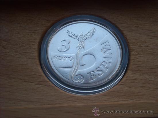 Monedas FNMT: 3 euros plata 1998 descubrimiento tierra firme venezuela completo - Foto 3 - 27618543