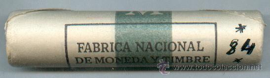 CARTUCHO ORIGINAL DE LA F.N.M.T. MONEDAS DE 10 PESETAS AÑO 1984 (Numismática - España Modernas y Contemporáneas - FNMT)