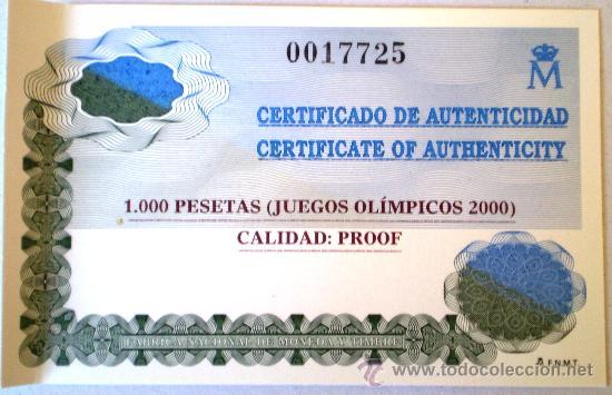 Monedas FNMT: 1000 Pesetas 1999 Juegos Olimpicos 2000 Ver Fotos - Foto 4 - 30747163