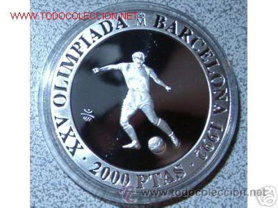 2.000 PESETAS PLATA XXV [925/1000] JJ.OO. BARCELONA '92 - FUTBOL (Numismática - España Modernas y Contemporáneas - FNMT)