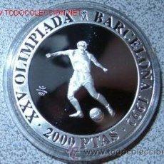 Monedas FNMT: 2.000 PESETAS PLATA XXV [925/1000] JJ.OO. BARCELONA '92 - FUTBOL. Lote 31092465