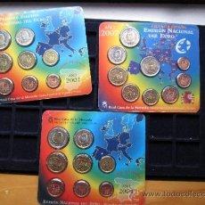Monedas FNMT: EUROS DE ESPAÑA 2002,2004, Y 2007 EN BLISTER. Lote 31807344