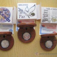 Monedas FNMT: SERIE DE 3 MONEDAS DE PLATA DE 1500 PTAS FNMT MUY BONITAS PARA COLECCION O REGALO CALIDAD PROOF. Lote 34671254