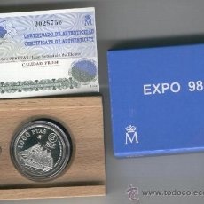 Monedas FNMT: MONEDA PROOF ESPAÑA INVIERTA EN MONEDAS DE PLATA. EXPO PORTUGAL AÑO 1998 OPORTUNIDAD . Lote 35593617