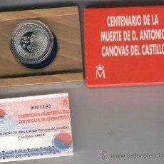 Monedas FNMT: INVIERTA EN MONEDA DE PLATA PROOF.CANOVAS DEL CASTILLO 1000 PESETAS RARA ESTUCHE TODO ORIGINAL. . Lote 35593695