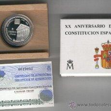 Monedas FNMT: INVIERTA EN MONEDA DE PLATA PROOF. XX ANIVERSARIO DE LA CONSTITUCION ESPAÑOLA PLATA 1000 PTAS.1998. Lote 35593731