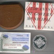 Monedas FNMT: INVIERTA EN MONEDA DE PLATA PROOF.ESPAÑA 750 ANYS DE GOVERN MUNICIPAL BARCELONA 1999 2000 PTS PLATA. Lote 126918591