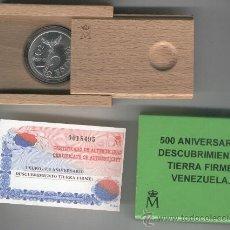 Monedas FNMT: INVIERTA EN MONEDA DE PLATA PROOF AÑO 1998 3 EUROS 500 ANIVERSARIO DEL DESCUBRIMIENTO TIERRA FIRME. Lote 175389318