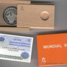 Monedas FNMT: INVIERTA EN MONEDA DE PLATA PROOF ESPAÑA MUNDIAL DE FUTBOL 1998 100O PESETAS PLATA. Lote 35593895