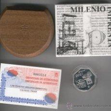 Monedas FNMT: INVIERTA EN MONEDA DE PLATA PROOF ESPAÑA MILENIO DE LA IMPRENTA POLOGONO 1500 PESETAS AÑO 2000. Lote 35593920