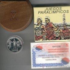 Monedas FNMT: INVIERTA EN MONEDA DE PLATA PROOF JUEGOS PARALIMPICOS ATLETISMO PARA CIEGOS AÑO 2000 1000 PESETAS . Lote 35594010