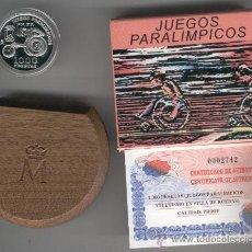 Monedas FNMT: INVIERTA EN MONEDA DE PLATA PROOF ESPAÑA JUEGOS PARALIMPICOS ATLETISMO SILLA DE RUEDAS AÑO 2000 1000. Lote 35594033