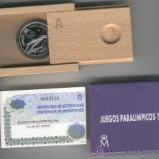 Monedas FNMT: INVIERTA EN MONEDA DE PLATA PROOF JUEGOS PARALIMPICOS AÑO 1996 ESPAÑA 1000 PESETAS . Lote 35594109