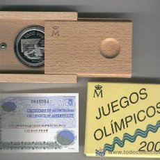 Monedas FNMT: INVIERTA EN MONEDA DE PLATA PROOF ESPAÑA JUEGOS OLIMPICOS 2000 AÑO 1999 WATERPOLO 1000 PESETAS. Lote 146210388