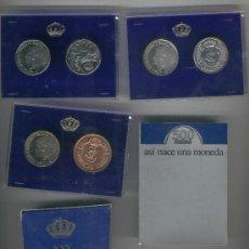 Monedas FNMT: LOTE XXV ANIVERSARIO XXV ANIVERSARIO BODA REYES DE ESPAÑA ASI NACE UNA MONEDA PRUEBAS. Lote 35597259