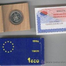 Monedas FNMT: INVIERTA EN MONEDA DE PLATA FLOR DE CUÑO ESPAÑA AÑO 1996 TIMON ECUS INVERSION . Lote 35597475