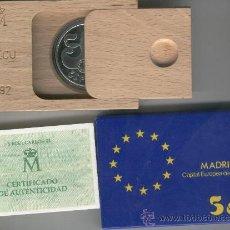 Monedas FNMT: INVIERTA EN MONEDA DE PLATA PROOF FLOR DE CUÑO ONZA TROY DE PLATA PURA 5 ECU AÑO 1992 MADRID CULTURA. Lote 35597727