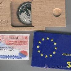 Monedas FNMT: INVIERTA EN MONEDA DE PLATA PROOF FLOR DE CUÑO ONZA TROY DE PLATA PURA 5 ECU AÑO 1996 COCA MATARO. Lote 35597810