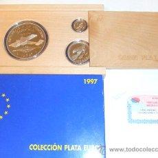 Monedas FNMT: COLECCION PLATA EURO 1997 INVIERTA EN MONEDAS DE PLATA ESPAÑA AVIACION COMPLETA PROOF INVERSION. Lote 35624526
