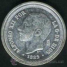 Monedas FNMT: 5 PESETAS PLATA 1882 DE ALFONSO XII SC LEER DENTRO DESCRIPCION - Nº3. Lote 80445547