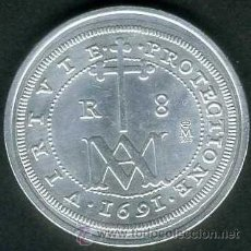 Monedas FNMT: 8 REALES PLATA DE 1691 SC ( CARLOS II ) LEER DENTRO DESCRIPCION - Nº6. Lote 125867884