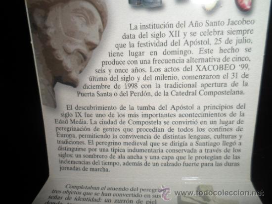 Monedas FNMT: 2000 ptas PLATA 925. XACOBEO99 SANTIAGO, GALICIA - Foto 8 - 37503754