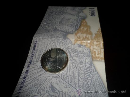 Monedas FNMT: 2000 ptas PLATA 925. XACOBEO99 SANTIAGO, GALICIA - Foto 7 - 37503754