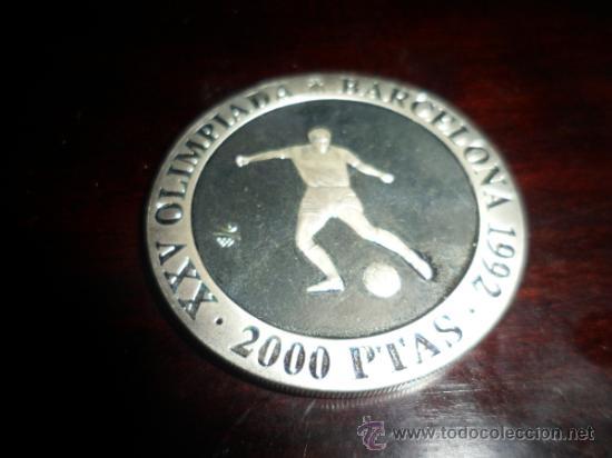 Monedas FNMT: 2.000 PESETAS PLATA XXV [925/1000] JJ.OO. BARCELONA 92 - FUTBOL - Foto 2 - 31092465