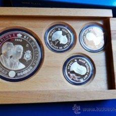 Monedas FNMT: SET ESTUCHE, COLECCION 4 MONEDAS PLATA 1998 , CASA BORBON , 2000 Y 10000 PESETAS, ORIGINAL. Lote 37718283