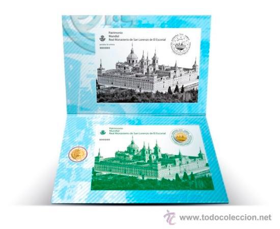 CARTERITA MONEDA 2 EURO EL ESCORIAL + SELLO 2013. FNMT. SC (Numismática - España Modernas y Contemporáneas - FNMT)
