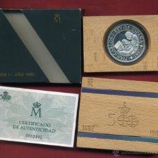 Monedas FNMT: SET ESTUCHE FNMT, 5000 PESETAS 1990 , PLATA , SEGUNDA SERIE CENTENARIO , ORIGINAL. Lote 39315811