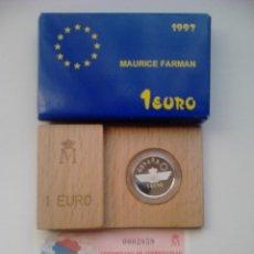 Monedas FNMT: MONEDA 1 EURO. 1997. HOMENAJE A LA AVIACIÓN ESPAÑOLA. MAURICE FARMAN. ESPAÑA. . Lote 39752991