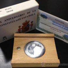 Monedas FNMT: NUMIS BILBAO : 1000 PESETAS 1998 XXV ANIVERSARIO CONSTITUCION PLATA PROOF MONEDA ESPAÑA FNMT. Lote 40171541