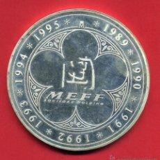 Monedas FNMT: MONEDA CINCUENTIN, FNMT, 1995 , PLATA 925 MM, PESO 168,75 GR. MEFF, HOLDIN MERCADOS FINANCIEROS. Lote 41236883