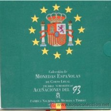 Monedas FNMT: ESPAÑA. 1993 MONEDAS REY EN CARTERA OFICIAL FNMT PROOF (8 MONEDAS).. Lote 41361766