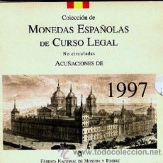 Monedas FNMT: ESPAÑA. 1997 MONEDAS REY EN CARTERA OFICIAL FNMT PROOF (8 MONEDAS).. Lote 41361785