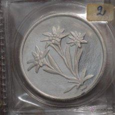 Monedas FNMT: MONEDA PURA DE PLATA DE 999, DE UNA ONZA TROY.MODELO FLOR NIEVE. Lote 42722072