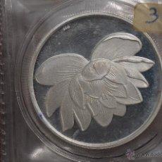 Monedas FNMT: MONEDA PURA DE PLATA DE 999, DE UNA ONZA TROY.MODELO FLOR LOTO. Lote 42722087