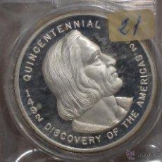 Monedas FNMT: MONEDA PURA DE PLATA DE 999, DE UNA ONZA TROY.MODELO LA PINTA,NIÑA Y STA MARIA. Lote 42749859