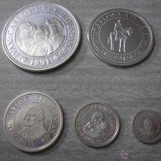 Monedas FNMT: 5º CENTENARIO. 1991. PESETAS DE PLATA VALOR 100-200-500-1000.2000. Lote 42788198