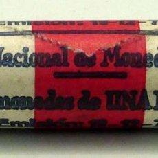 Monedas FNMT: CARTUCHO 50 MONEDAS PESETAS 1 PESETA FÁBRICA NACIONAL MONEDATIMBRE 1975 REVERSO MUNDIAL ESPAÑA 1982. Lote 43974352