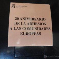 Monedas FNMT: ESPAÑA, ESTUCHE MONEDA 10 EUROS PLATA, 20 ANIVERSARIO ADHESION COMUNIDADES EUROPEAS 2006 , ORIGINAL. Lote 44268860