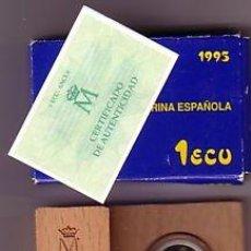 Monedas FNMT: ESPAÑA: 1 ECU PLATA 1995 PROOF HOMENAJE A LA MARINA ESPAÑOLA *NUMISBUR*. Lote 44886279