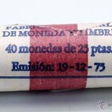 Monedas FNMT: CARTUCHO FNMT 40 MONEDAS 25 PESETAS EMISION 19/12/1975 ESTRELLA 79. Lote 101986842
