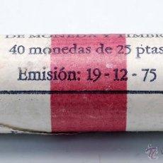 Monedas FNMT: CARTUCHO FNMT 40 MONEDAS 25 PESETAS EMISION 19/12/1975 ESTRELLA 78. Lote 293777763