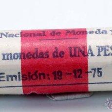 Monedas FNMT: CARTUCHO FNMT 50 MONEDAS 1 PESETA EMISIÓN 19/12/1975 ESTRELLA 77. Lote 101986892