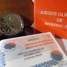 Monedas FNMT: 8 REALES 10 EUROS 2002 JUEGOS OLIMPICOS DE INVIERNO PROOF. Lote 46106923