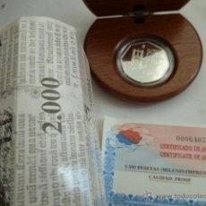Monedas FNMT: 1500 PESETAS AÑO 2000, CONMEMORATIVA MILENIO DE LA IMPRENTA, MONEDA OCTOGONAL FNMT. Lote 46164563