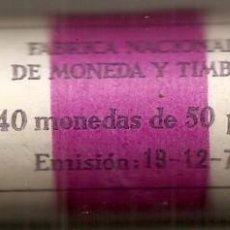 Monedas FNMT: CARTUCHO FMNT DE 40 MONEDAS DE 50 PESETAS DE 1975 ESTRELLA 79. SC. Lote 48307429